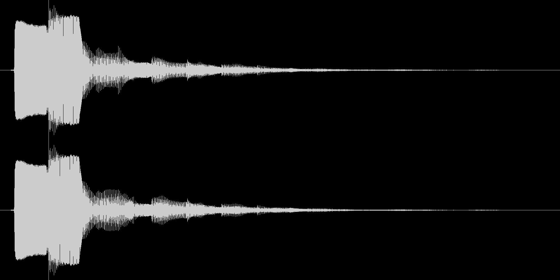 決定/ボタン押下音(電子音)の未再生の波形