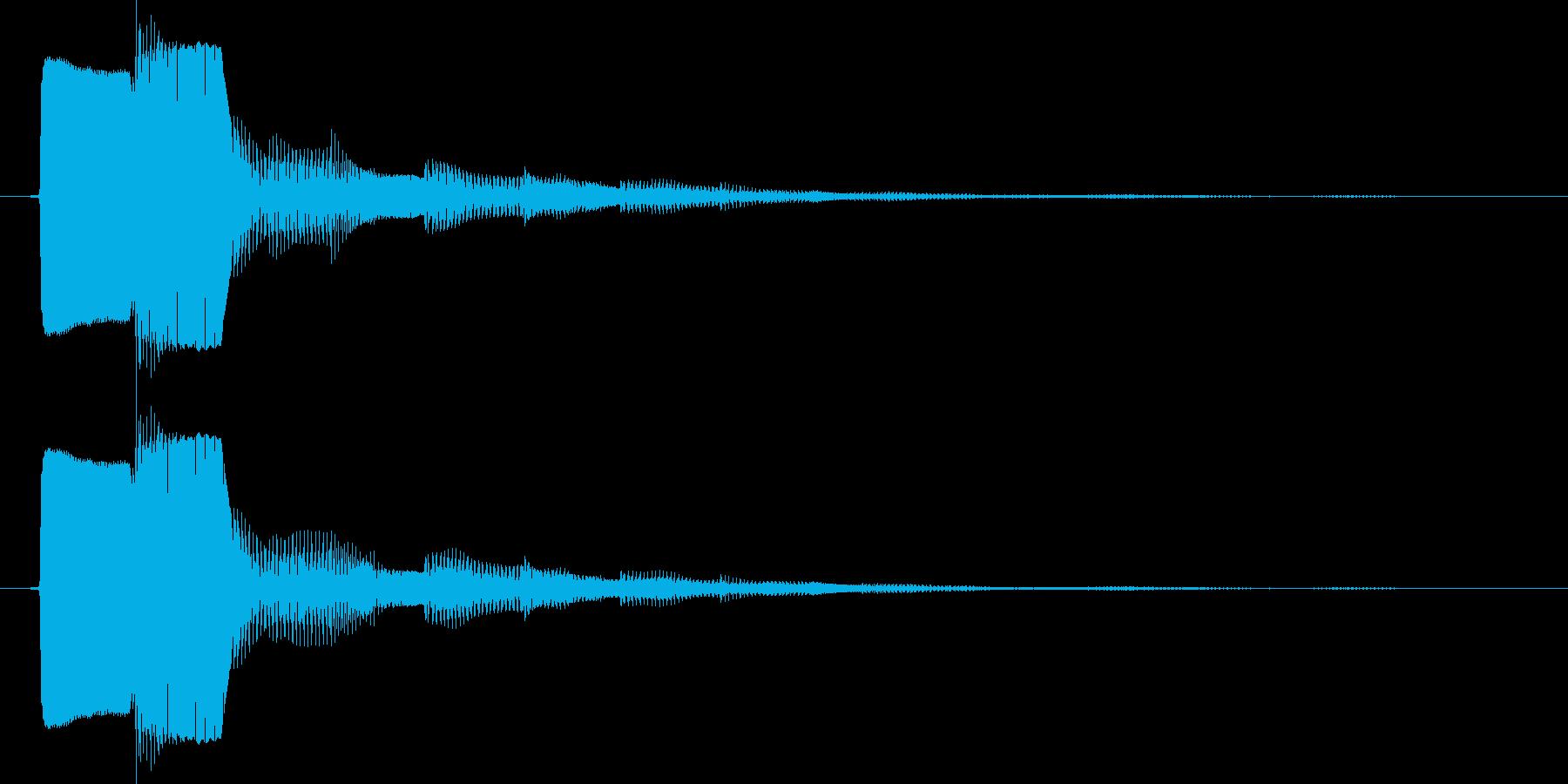 決定/ボタン押下音(電子音)の再生済みの波形