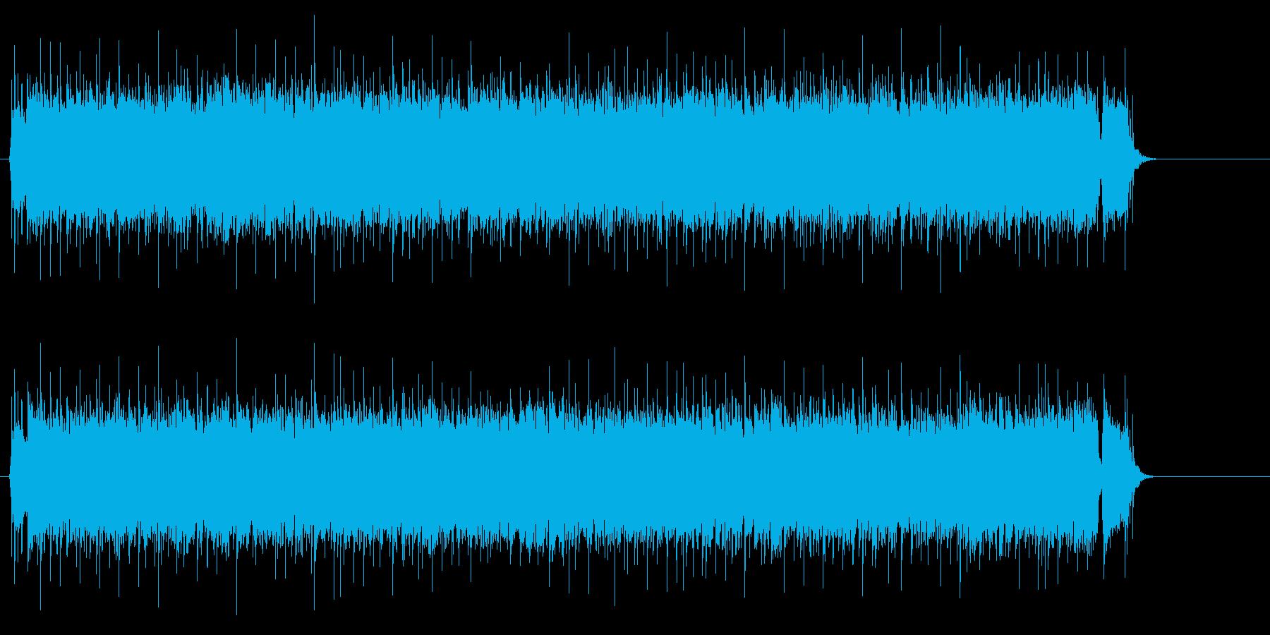 若者の熱いブギー調ロック/ポップの再生済みの波形
