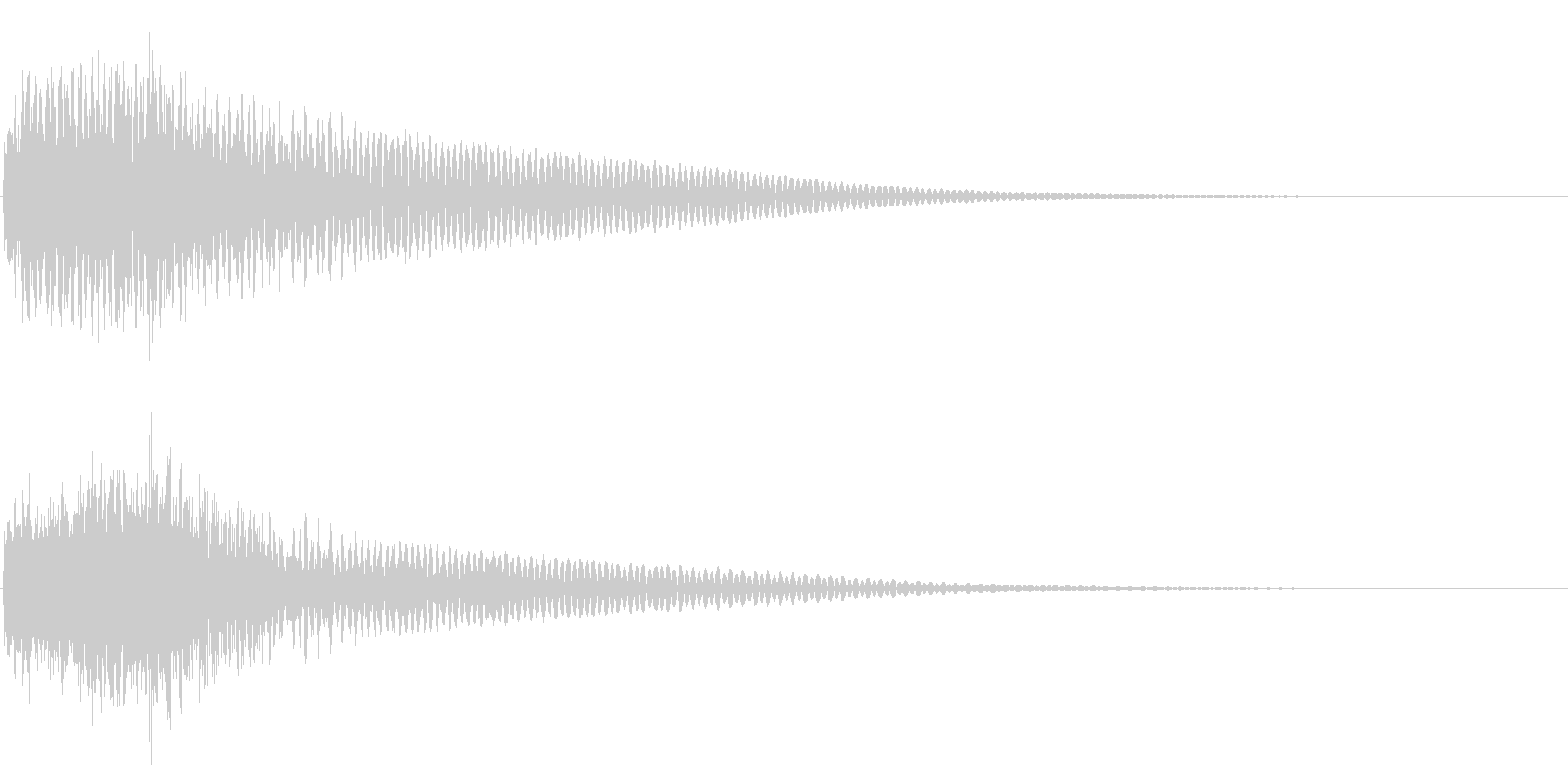 ジャジャン/クイズ/出題/問題の未再生の波形