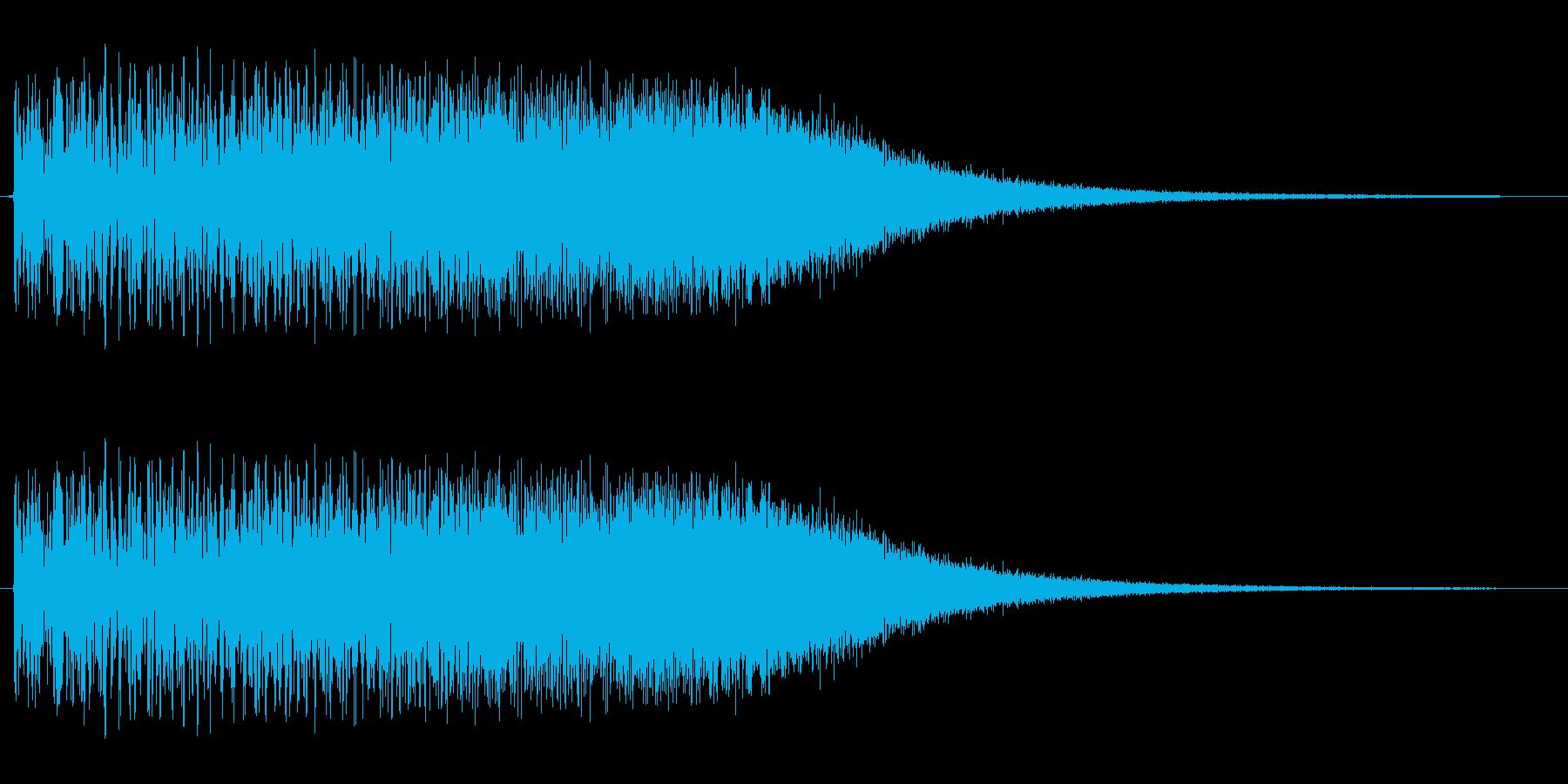 トゥルルルルルリン(場面転換向きの音源)の再生済みの波形