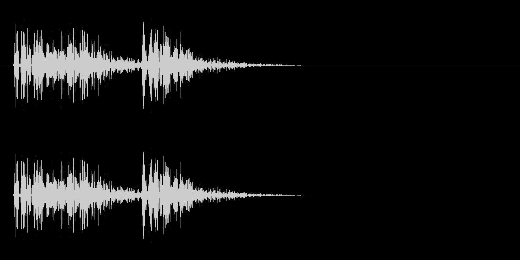 打撃音(3コンボ)の未再生の波形