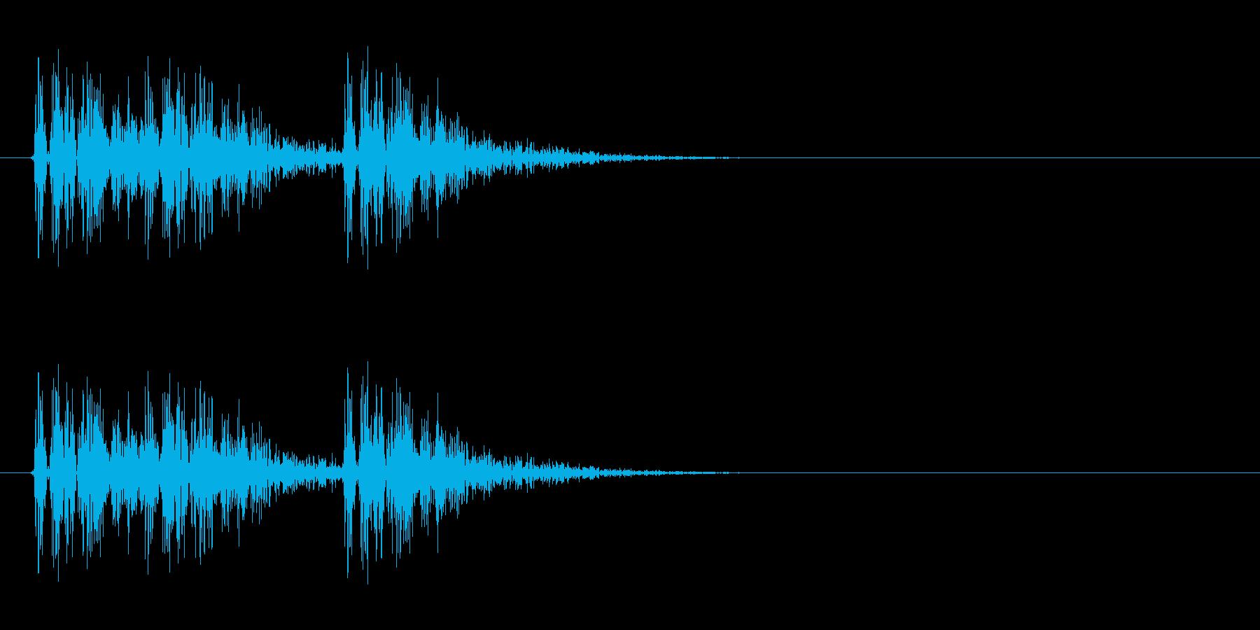 打撃音(3コンボ)の再生済みの波形