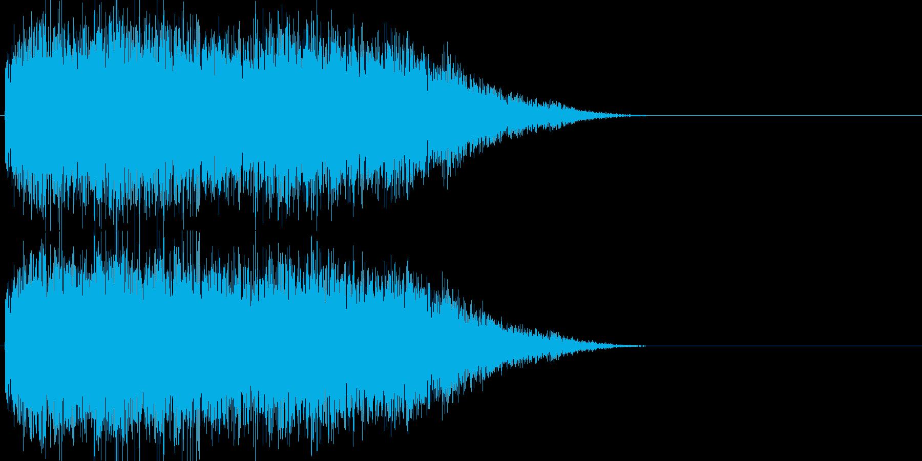 怪獣、恐竜の鳴き声の再生済みの波形