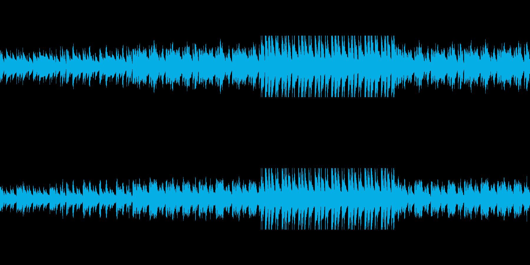 爽やかな雰囲気のBGMです。の再生済みの波形