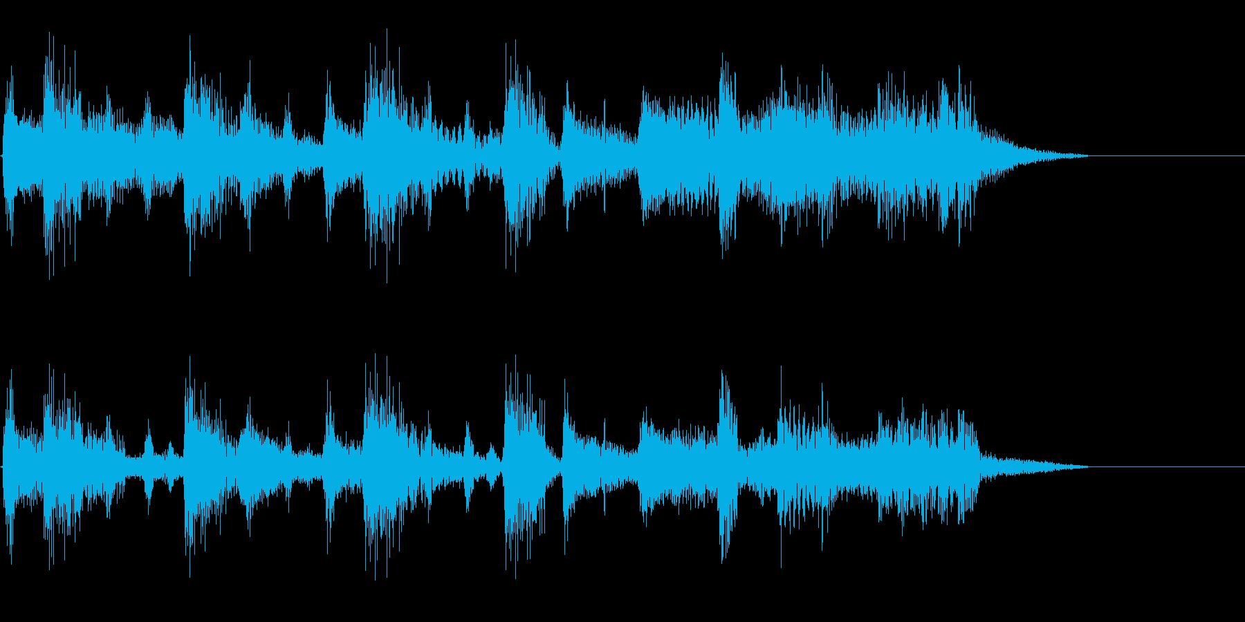 ギターのシンプルなジングルの再生済みの波形