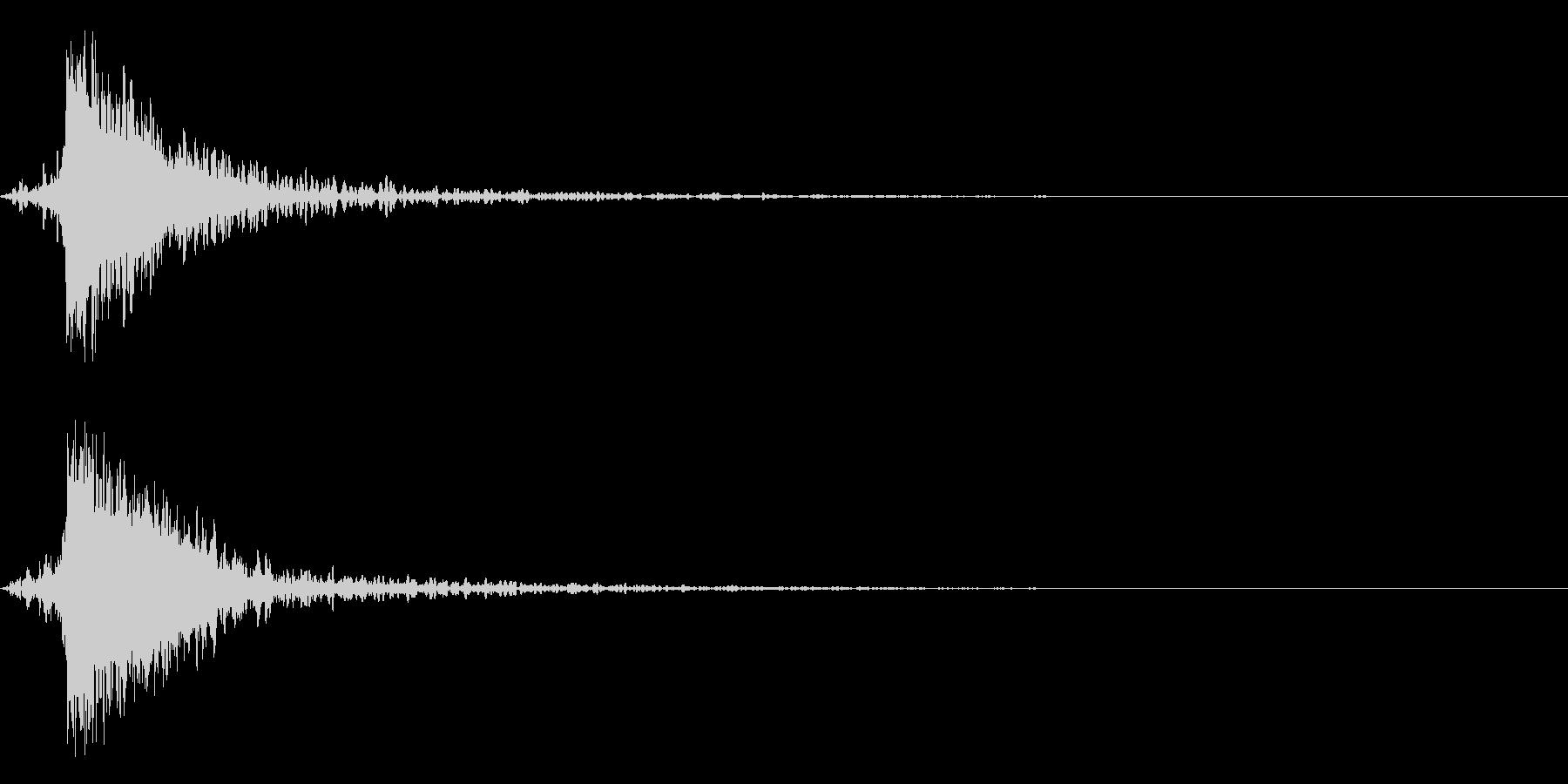 ガキーン 派手な金属音4-1の未再生の波形