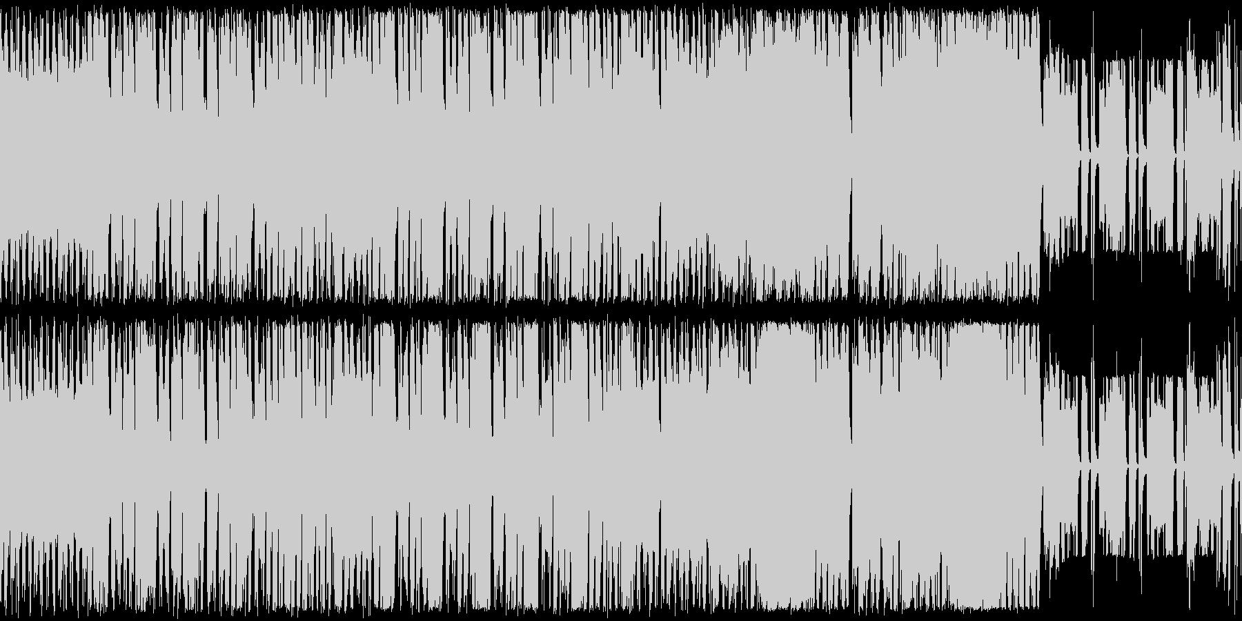 ロックンロールの原点から・ノリノリBGMの未再生の波形