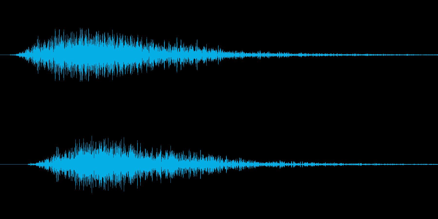 刀を振る音の再生済みの波形