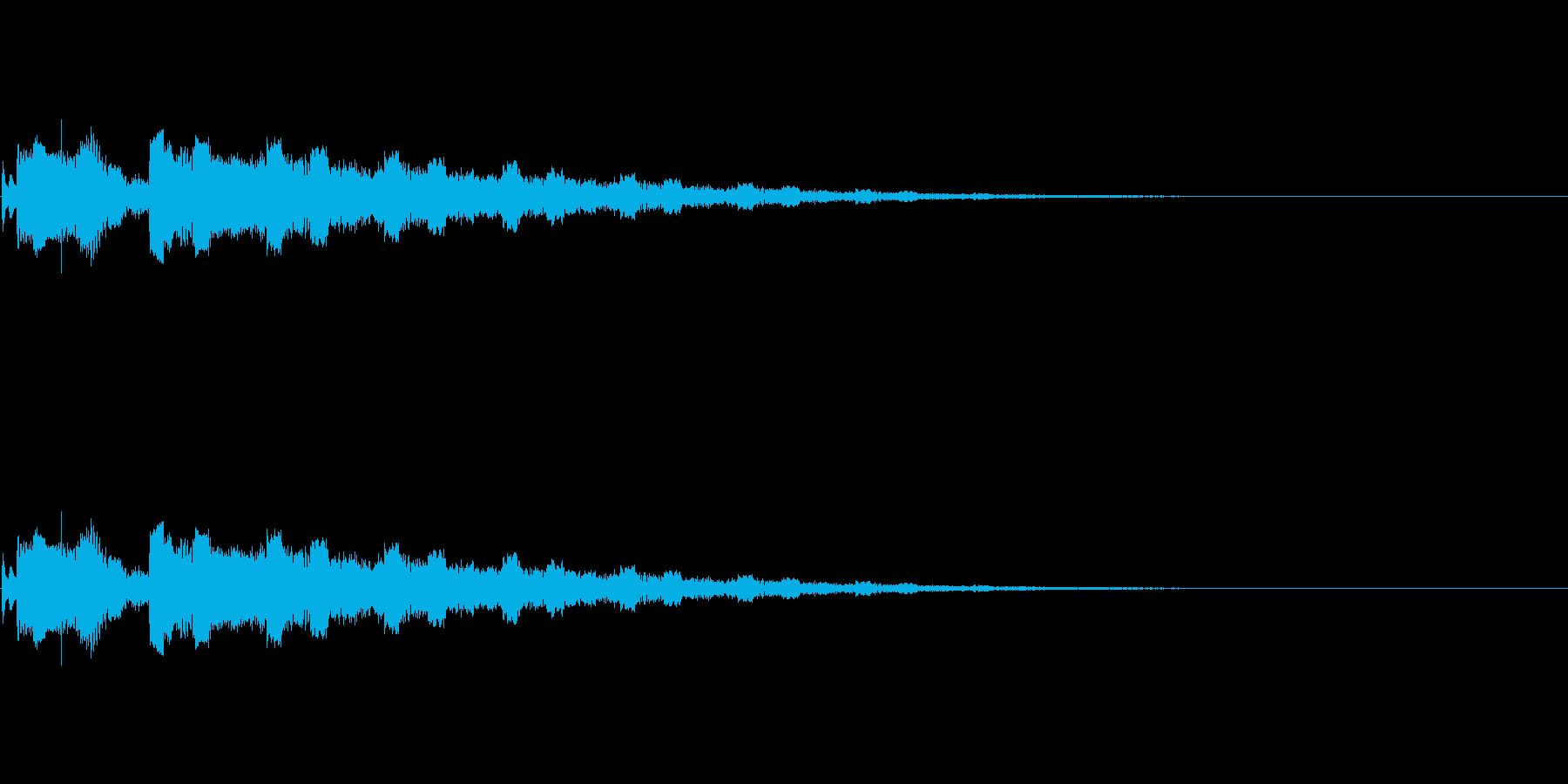 【SE 効果音】PC的な音2の再生済みの波形
