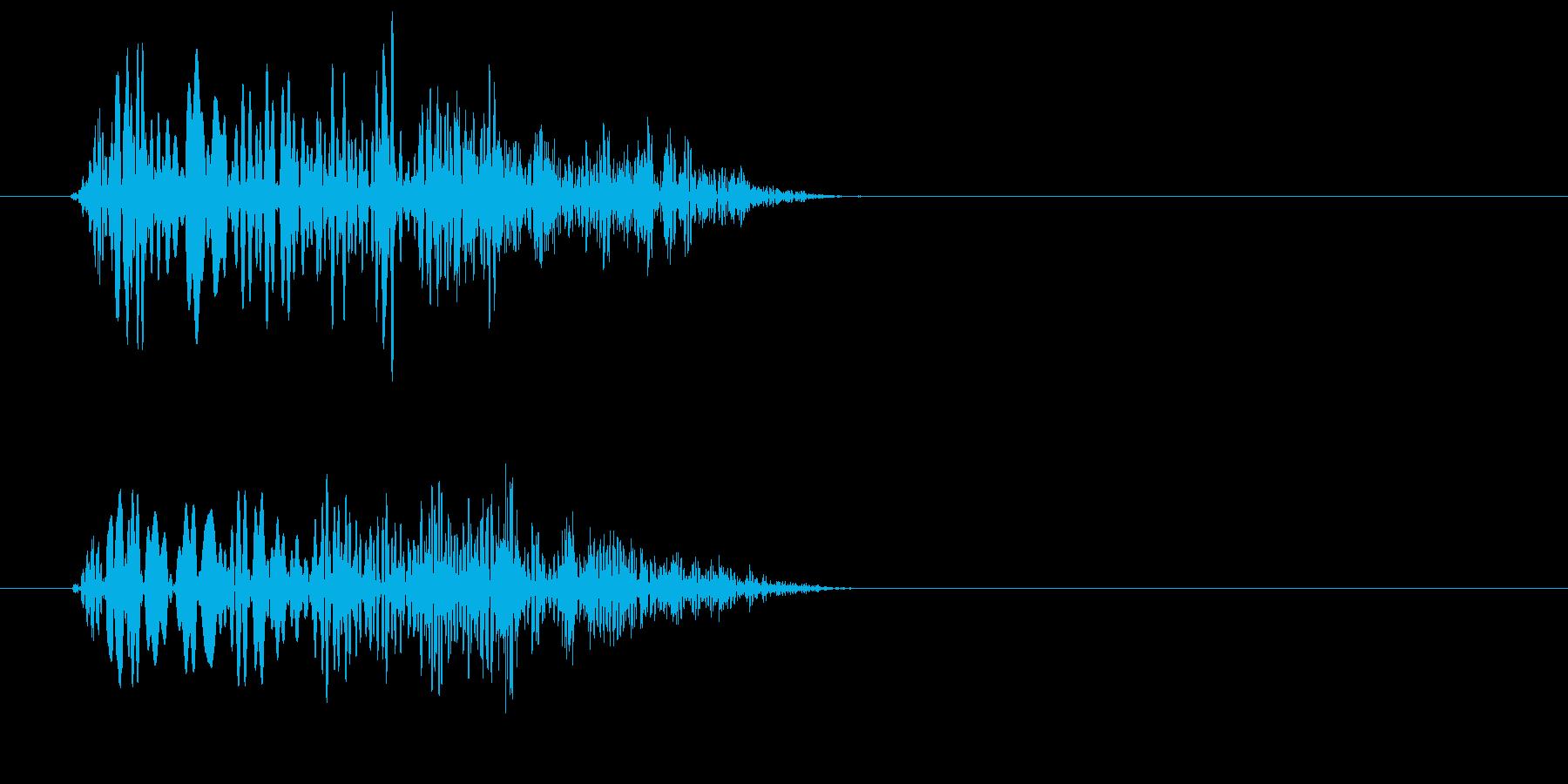 ピニュッ(ぷにぷにしたものが弾んだ音)の再生済みの波形