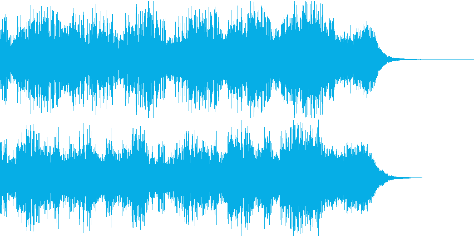 宇宙、近未来をイメージしたCM曲の再生済みの波形