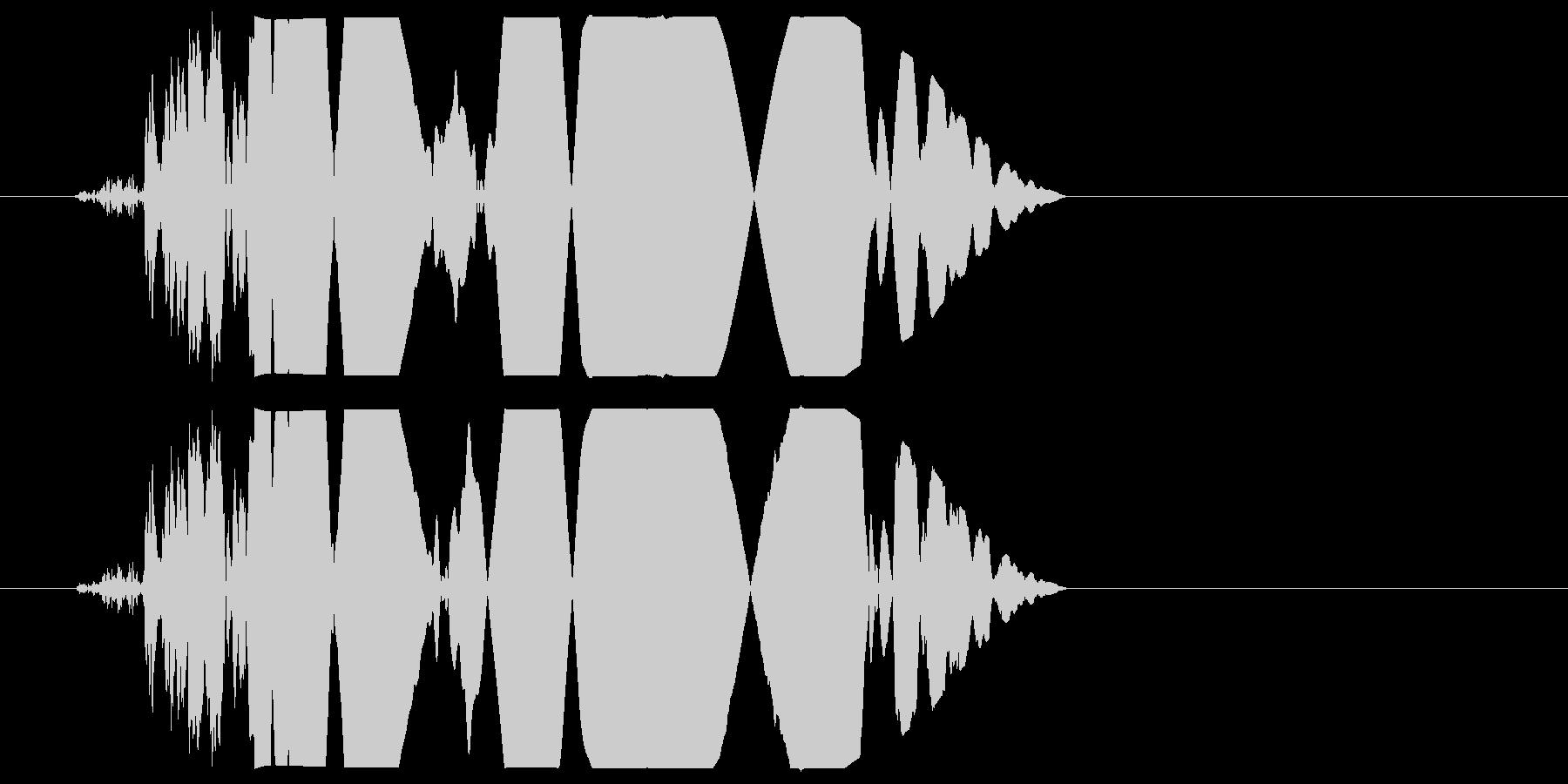 カチャ(軽く叩く・置く音)の未再生の波形