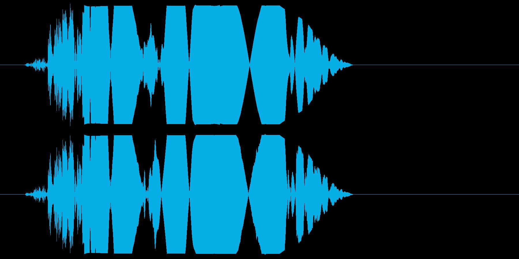 カチャ(軽く叩く・置く音)の再生済みの波形
