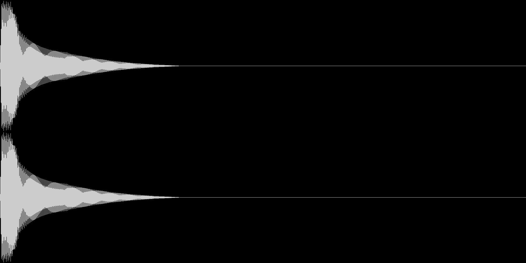 PureTouch アプリ用タッチ音 4の未再生の波形