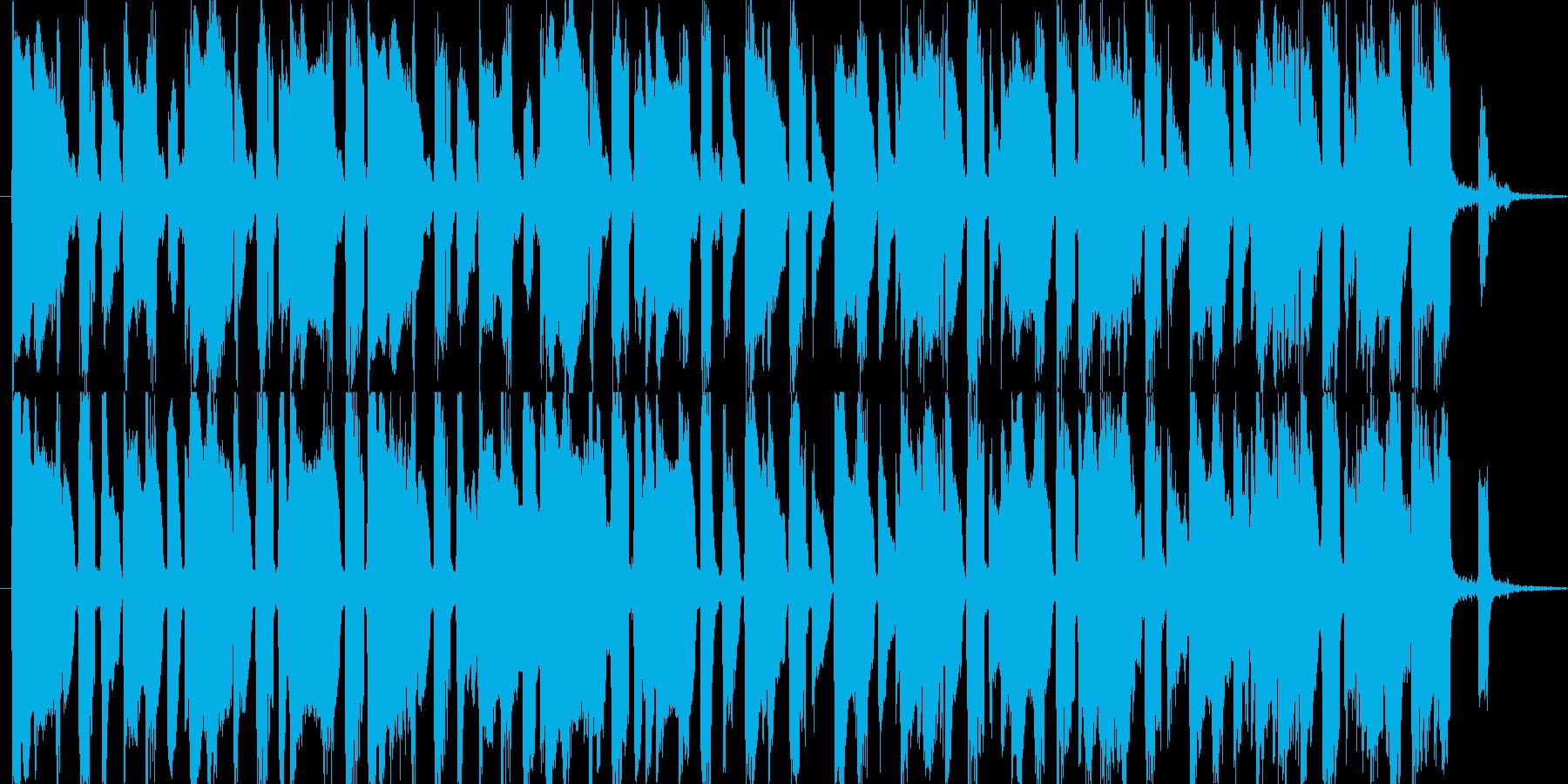 ブスっとした犬が、地面にうずくまって動…の再生済みの波形