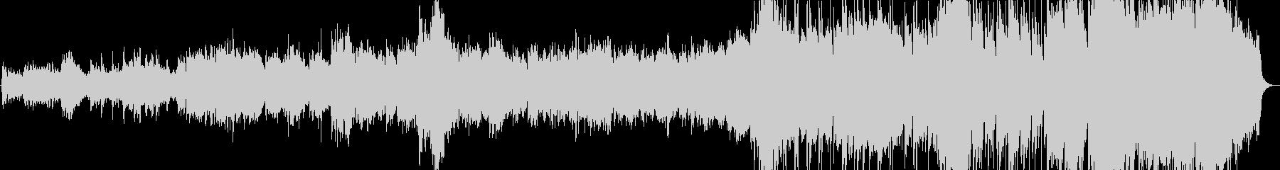 きらきらしたオーケストラ風のBGMの未再生の波形