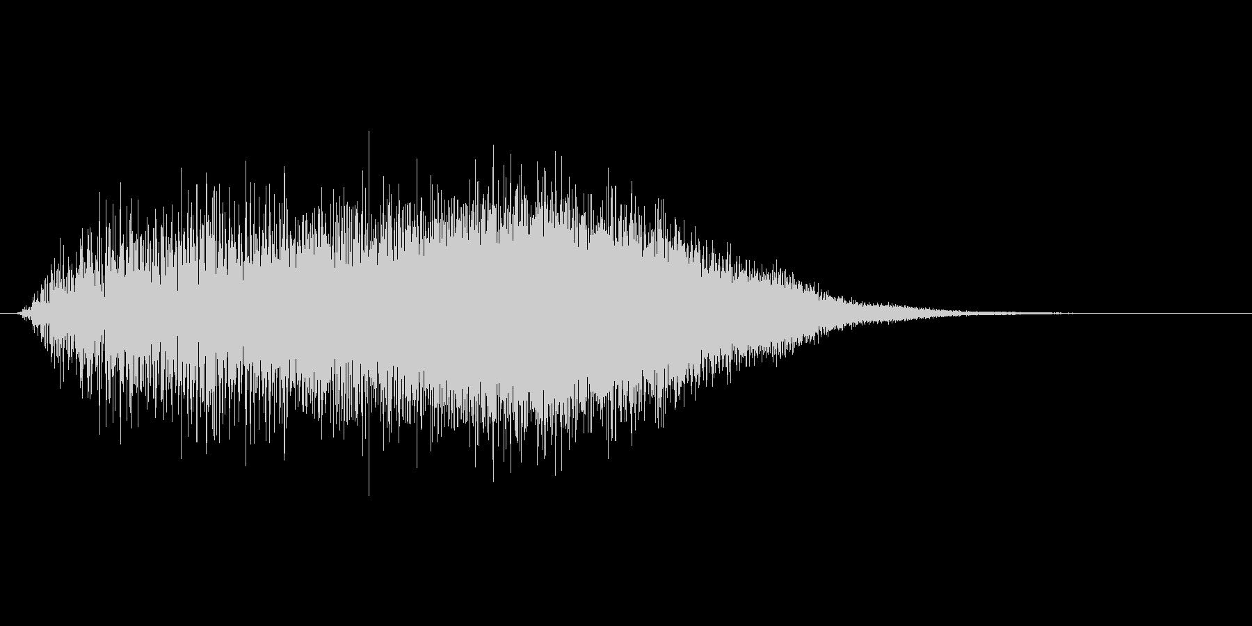 戦闘時のパラメーター強化音 上昇音の未再生の波形