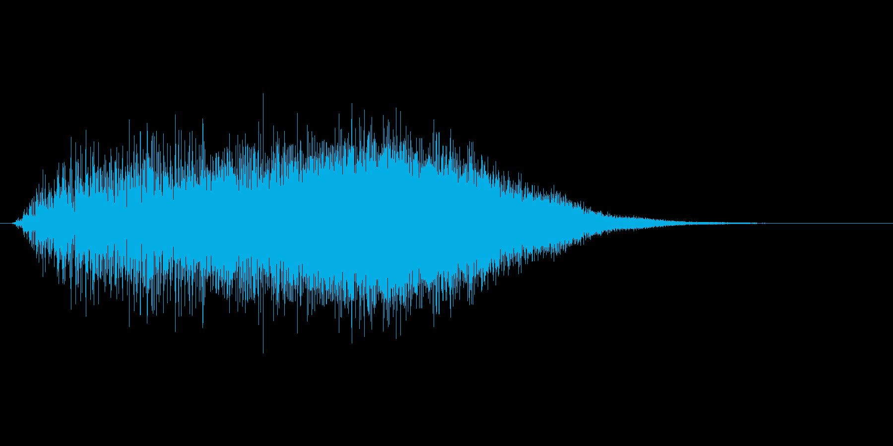 戦闘時のパラメーター強化音 上昇音の再生済みの波形