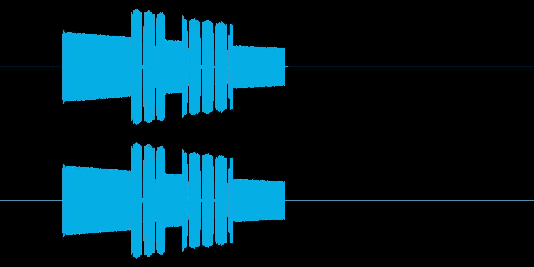 RPGゲーム・攻撃・ミス・空振り・高音の再生済みの波形