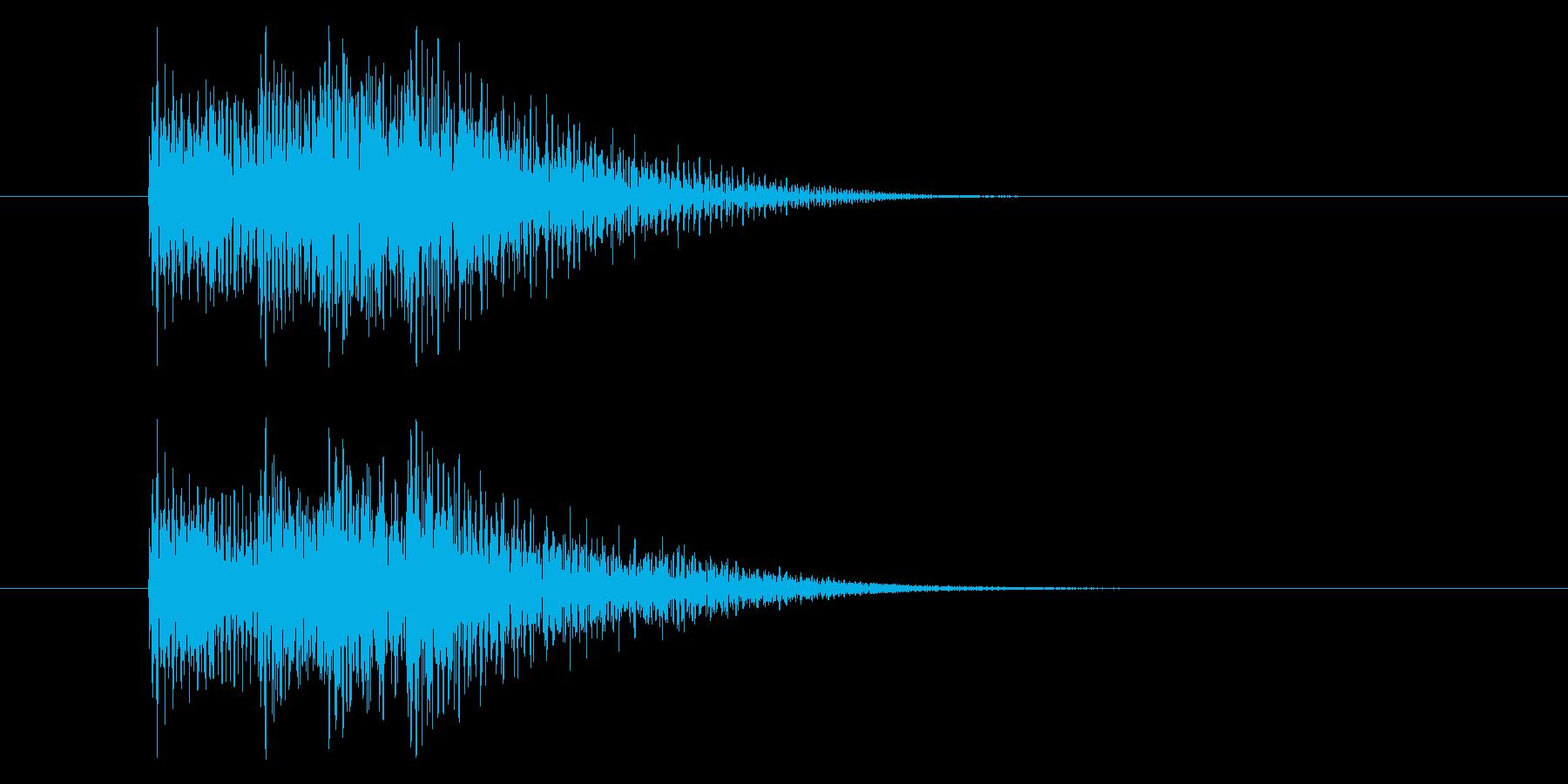 テッテレーの再生済みの波形