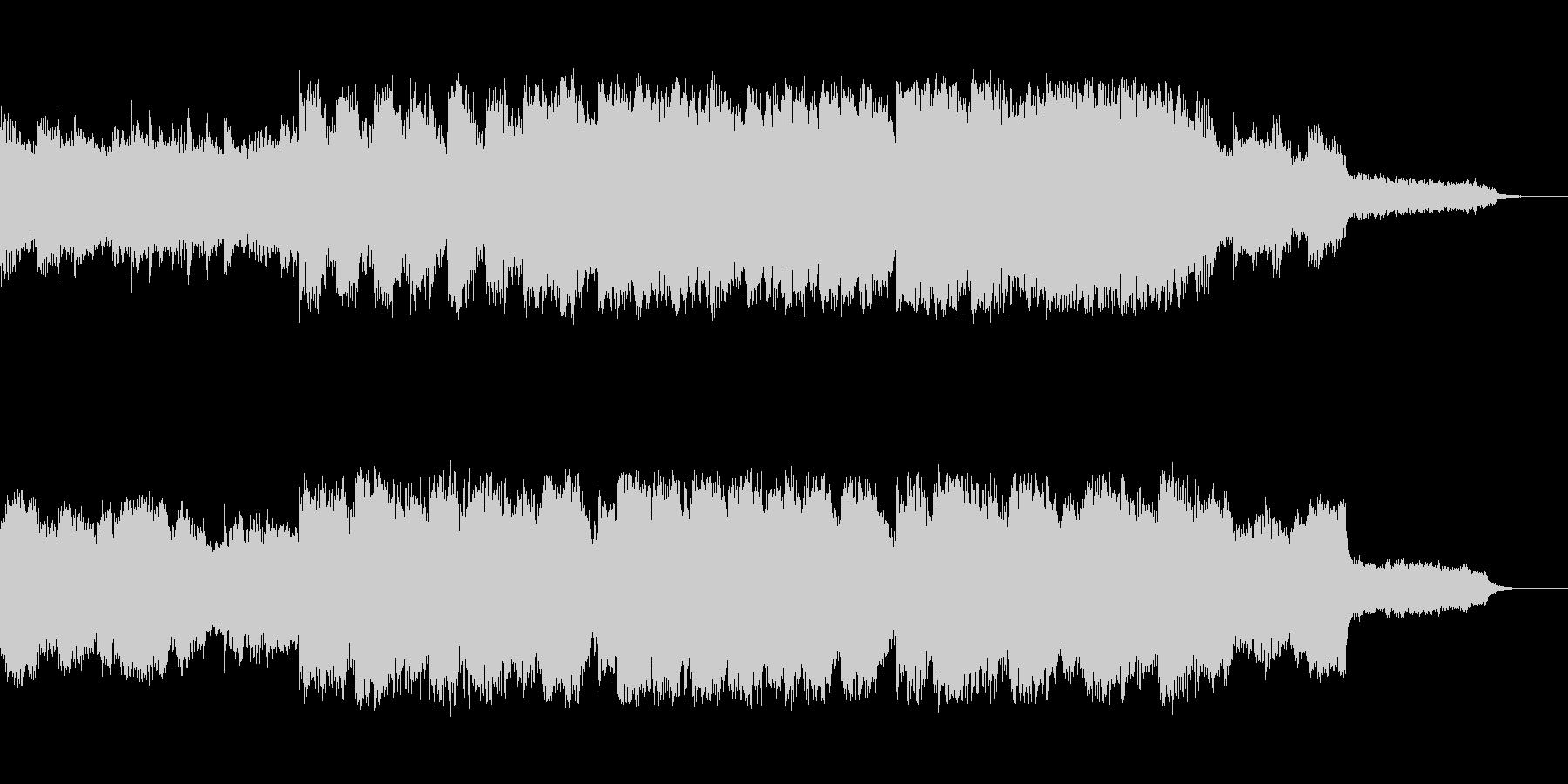 オルゴールの様なベルで奏でる30秒の童謡の未再生の波形