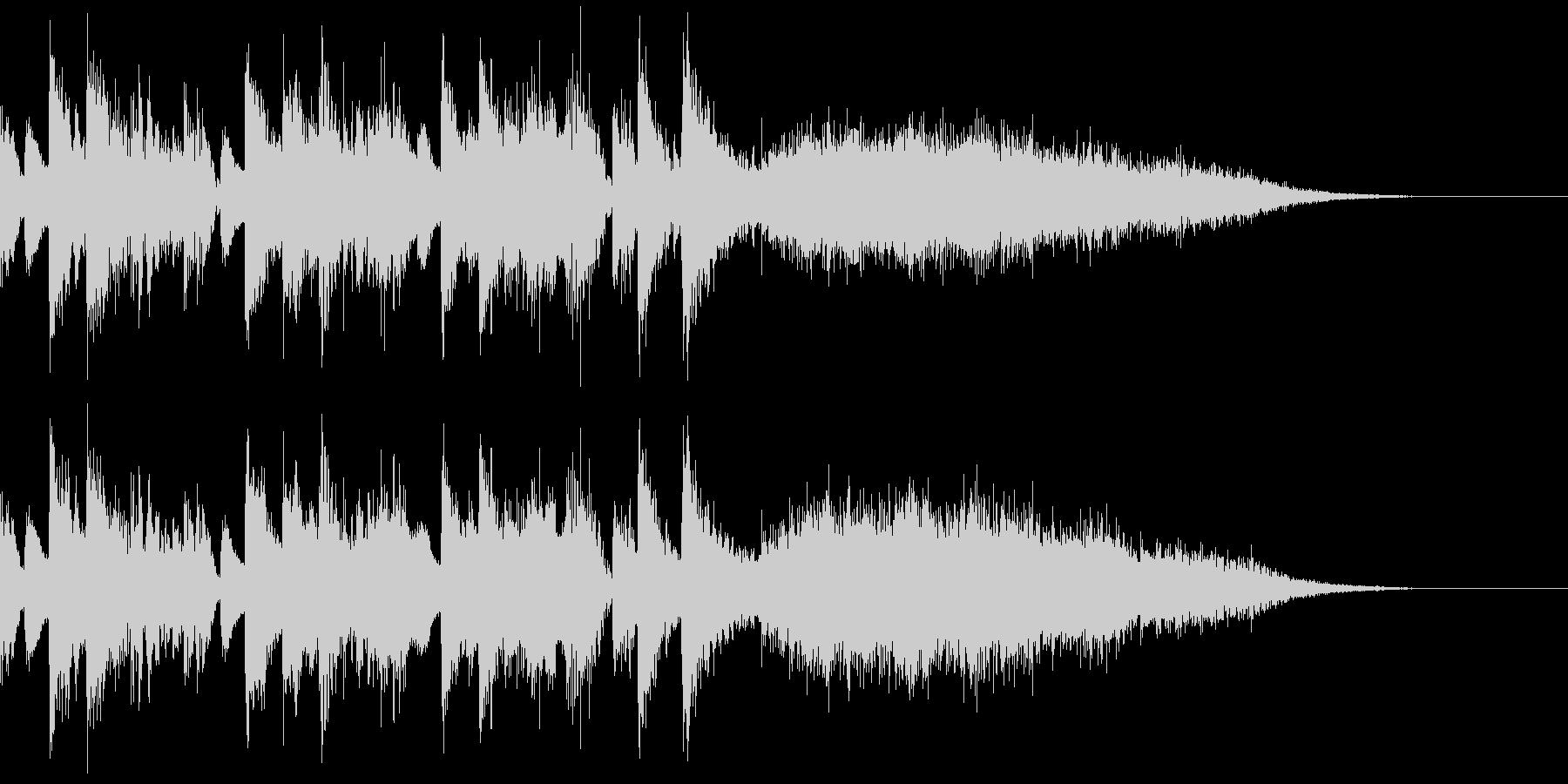 街の音シリーズ 歓声と拍手 音楽付きの未再生の波形