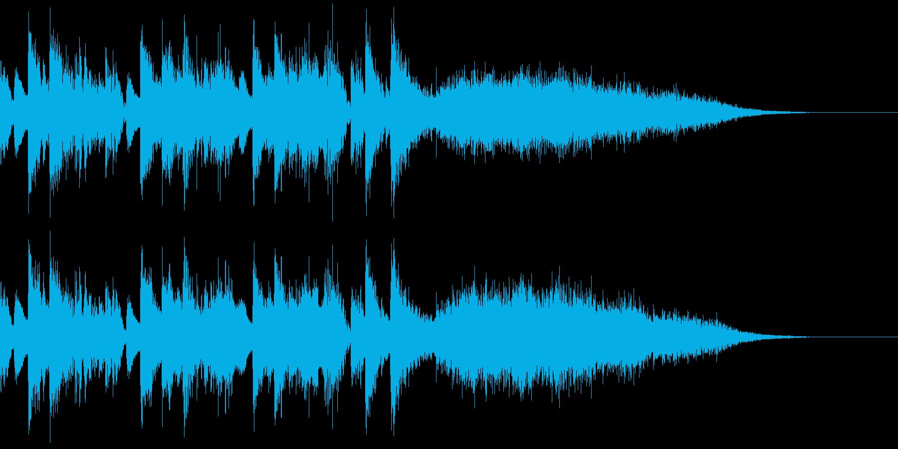 街の音シリーズ 歓声と拍手 音楽付きの再生済みの波形