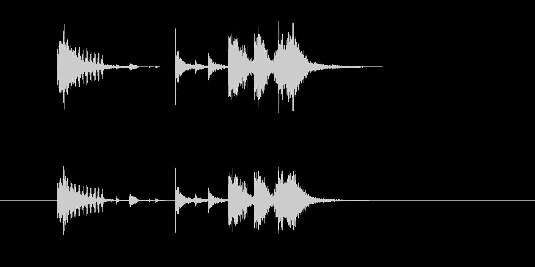 ジングル(ジャズ風ホーン・セクション)の未再生の波形