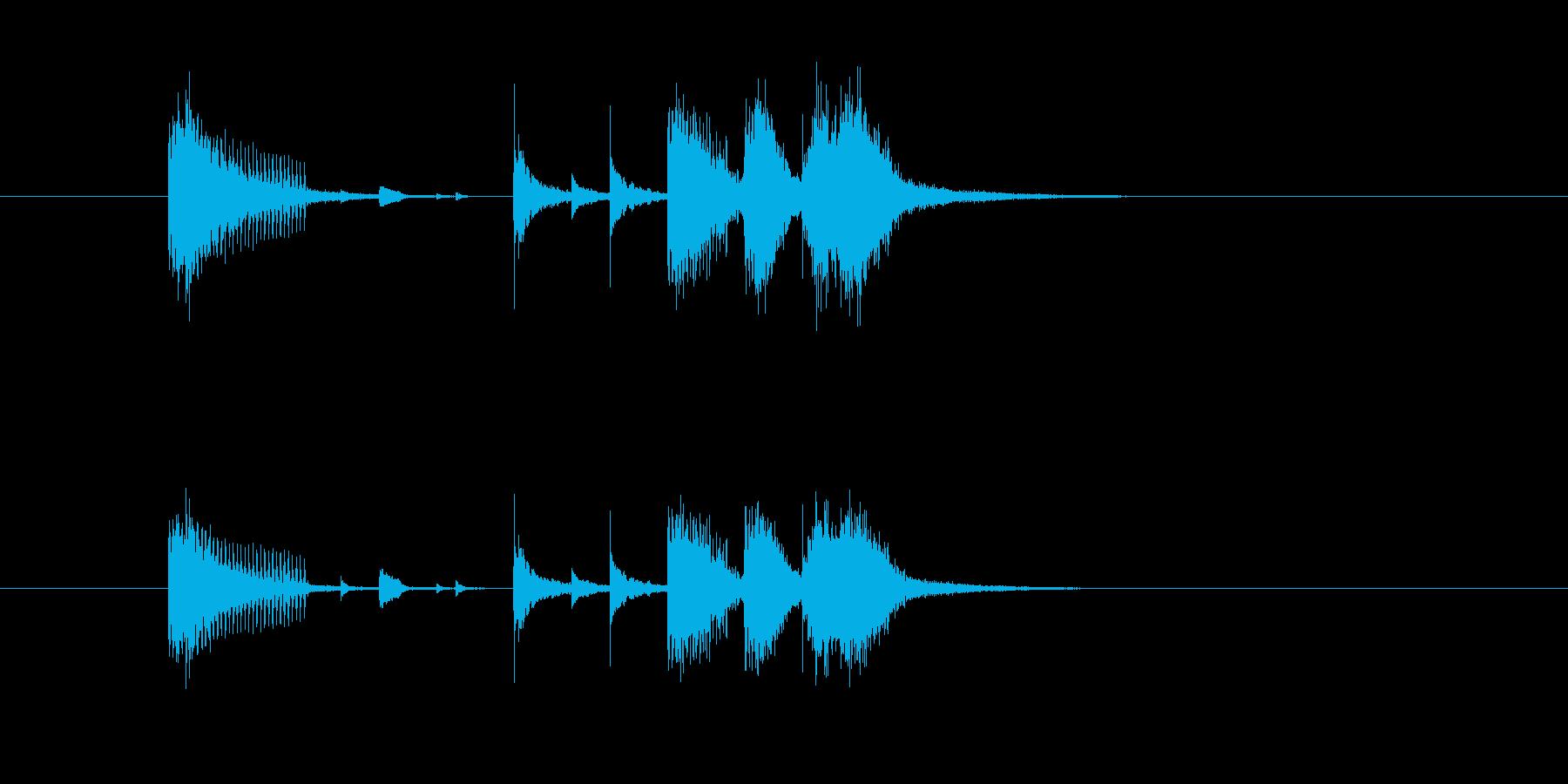 ジングル(ジャズ風ホーン・セクション)の再生済みの波形