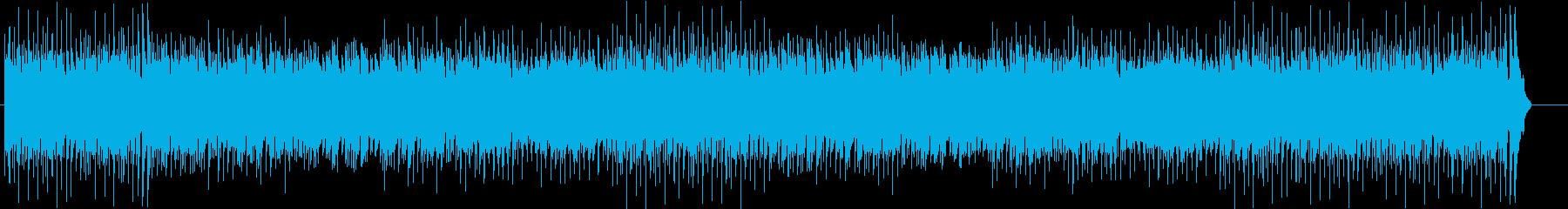 ほのぼのまったりしたカントリー調の曲の再生済みの波形