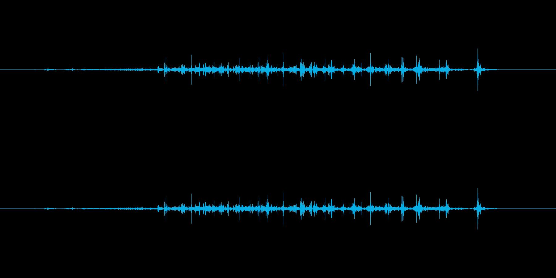 【本01-4(パラパラ)】の再生済みの波形