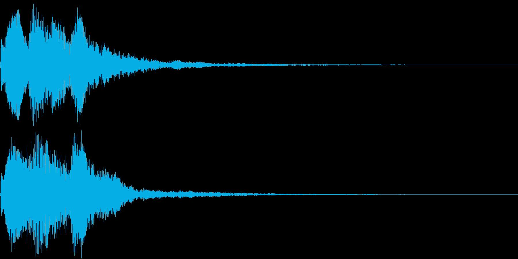 お知らせ  アナウンス  チャイム ベルの再生済みの波形