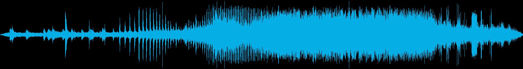 蒸気機関車の発車する音の再生済みの波形