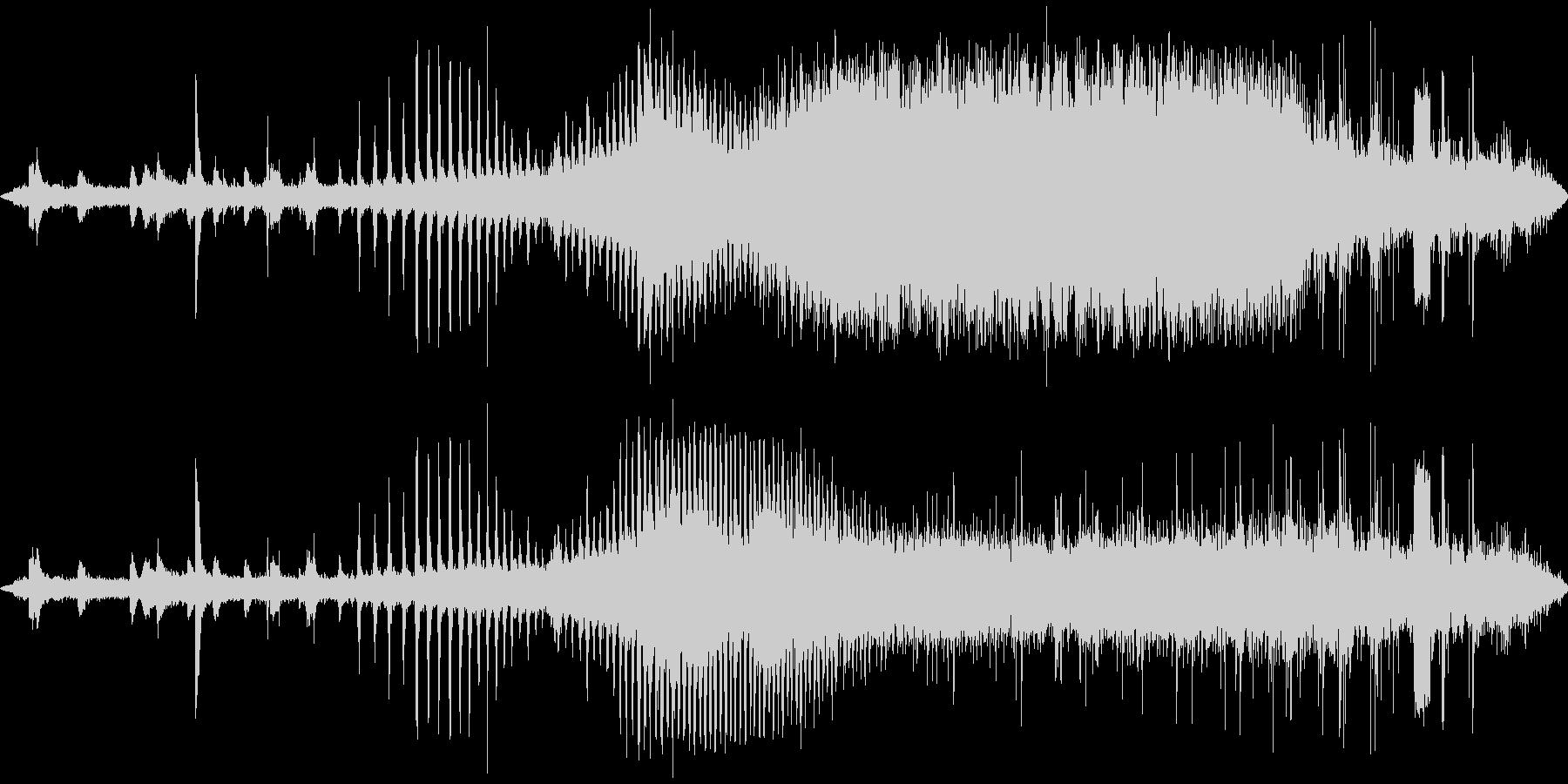 蒸気機関車の発車する音の未再生の波形