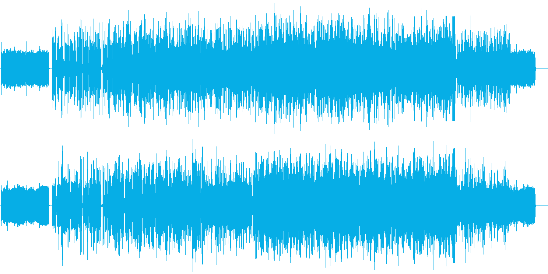 異世界に迷い込んだ様な電子音のBGMの再生済みの波形