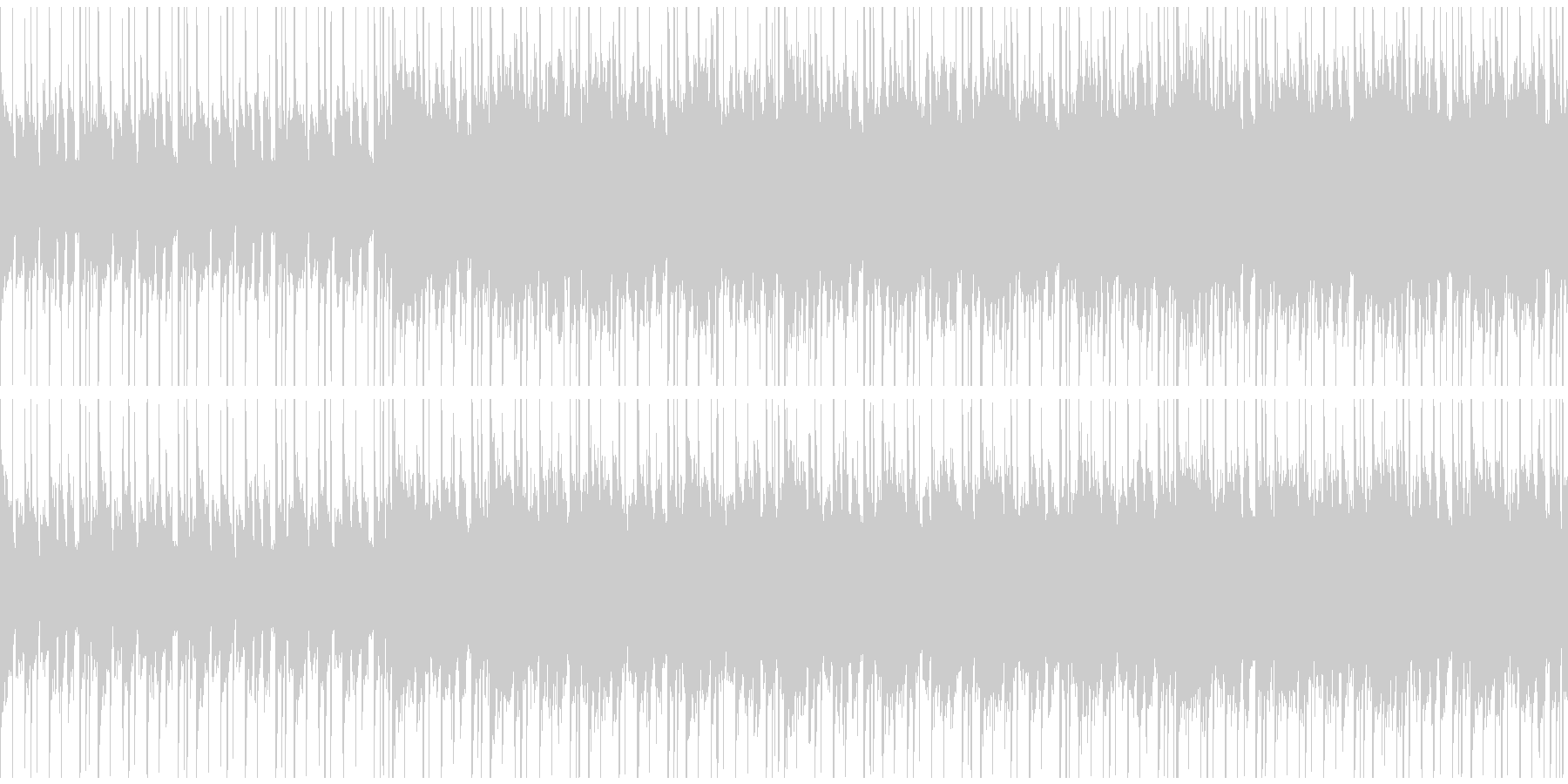 シンセの旋律がアンニュイな空気を作る曲の未再生の波形