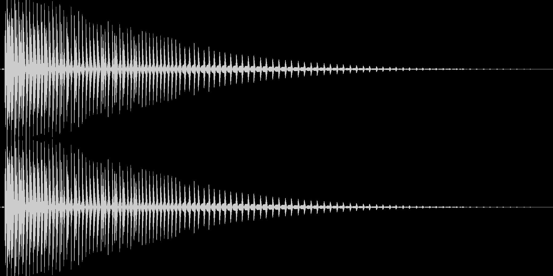 ガオーっと低く唸るような効果音の未再生の波形