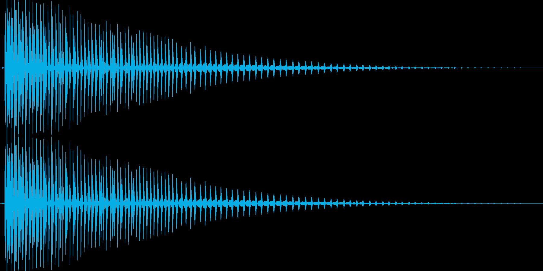 ガオーっと低く唸るような効果音の再生済みの波形