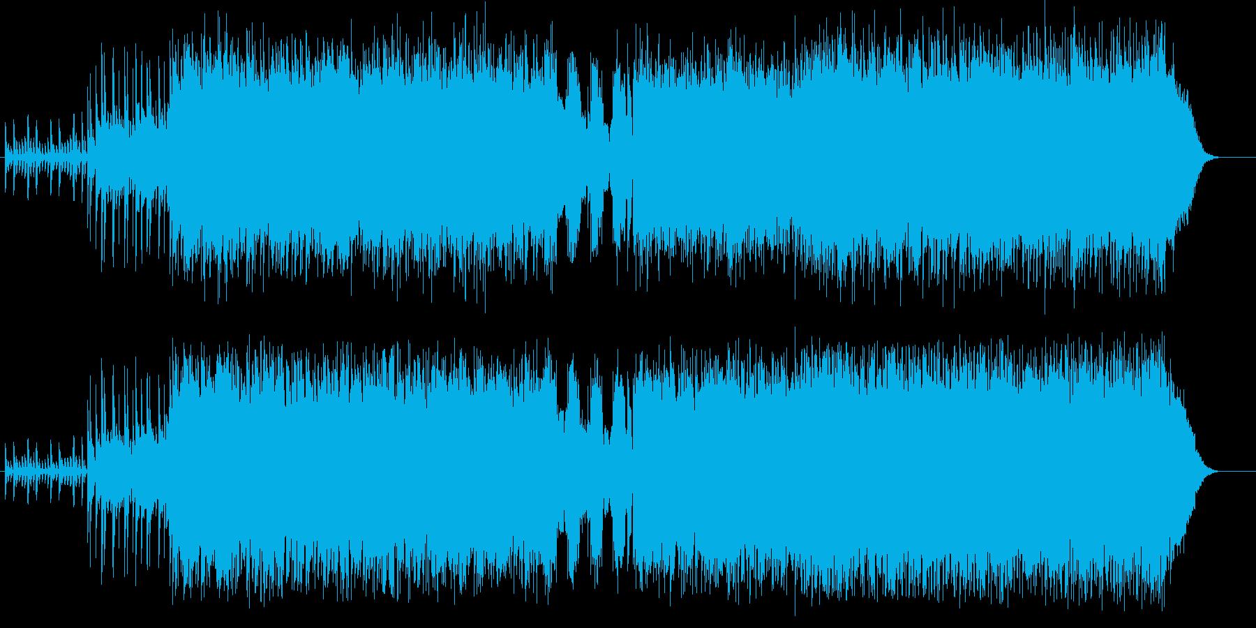 キャッチーでヴィヴィッドなハード・ロックの再生済みの波形