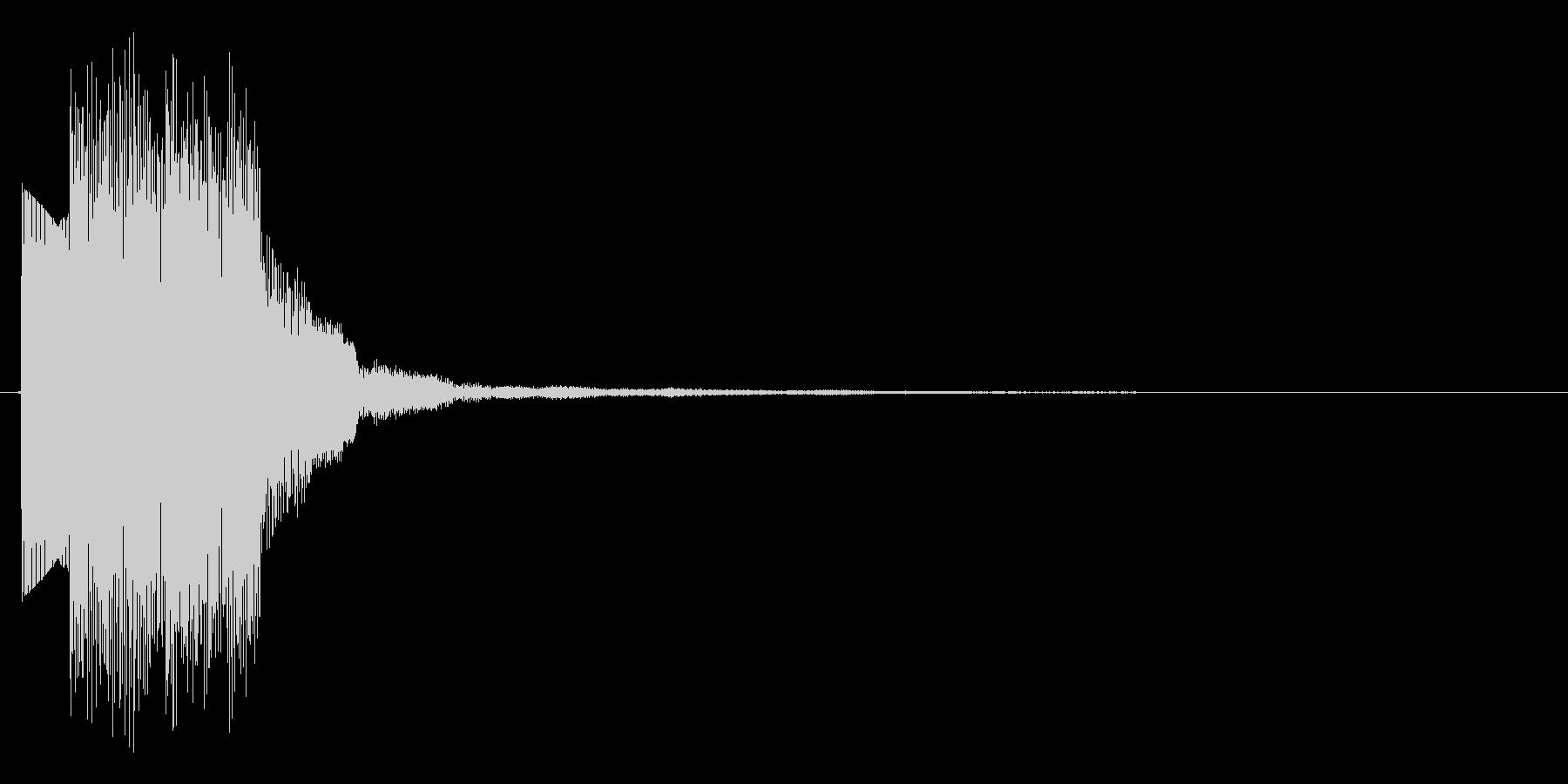 シンプルなシンセ、上昇フレーズの決定音の未再生の波形