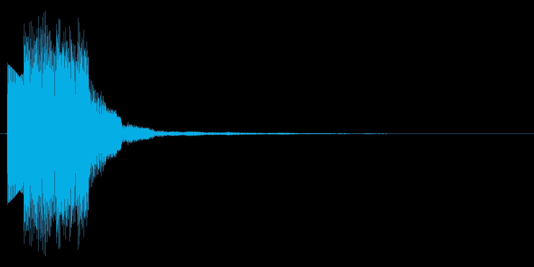 シンプルなシンセ、上昇フレーズの決定音の再生済みの波形