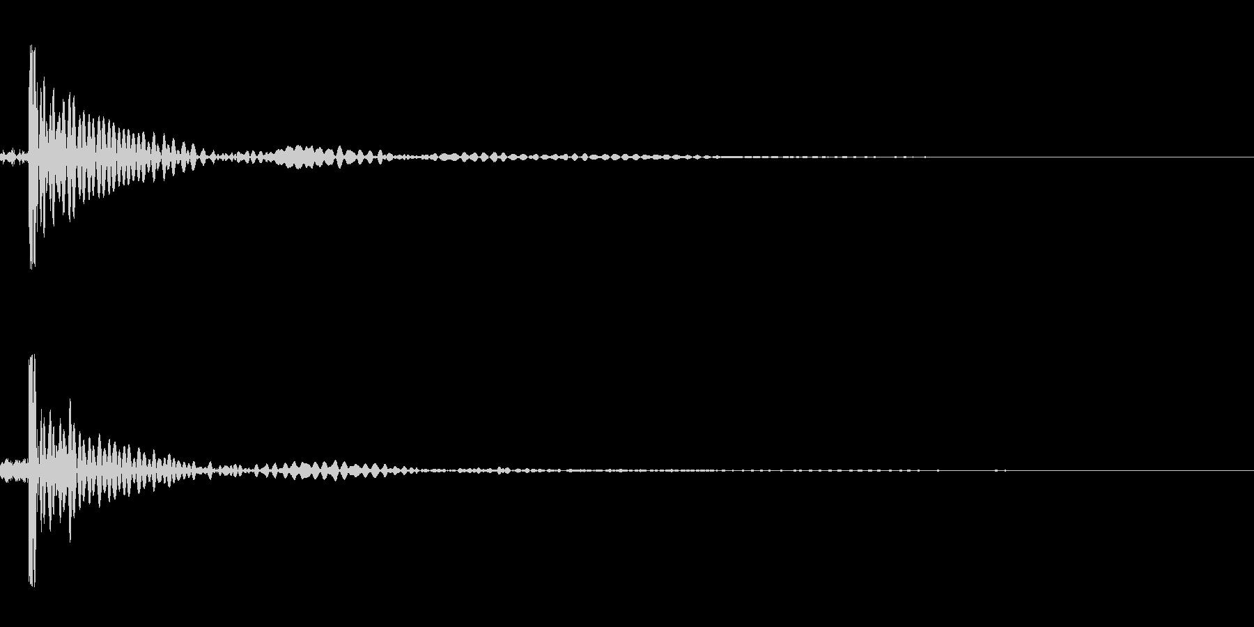 ピンポン玉をラケットで打つの未再生の波形