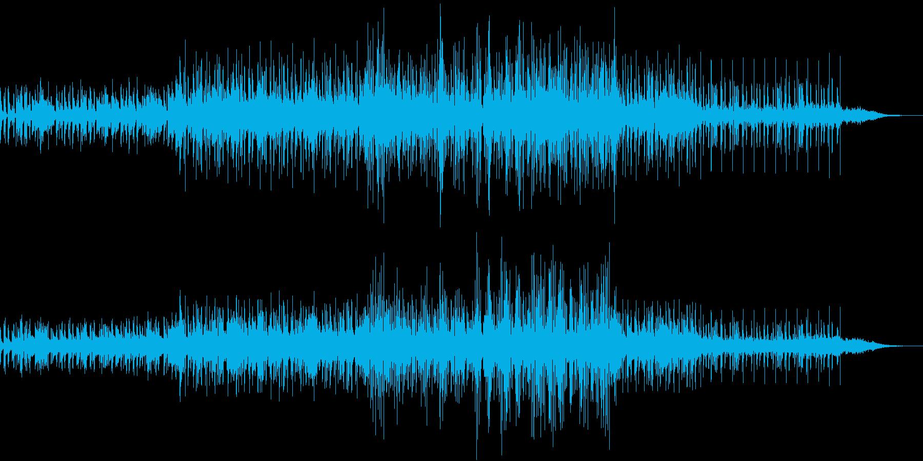ダークなエレクトロニカ曲の再生済みの波形