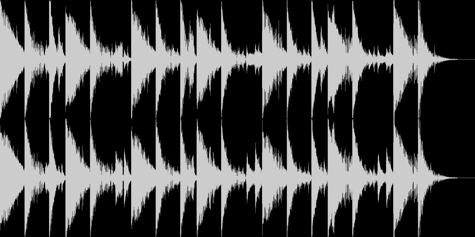 リラックスとしたサンバ風BGMの未再生の波形
