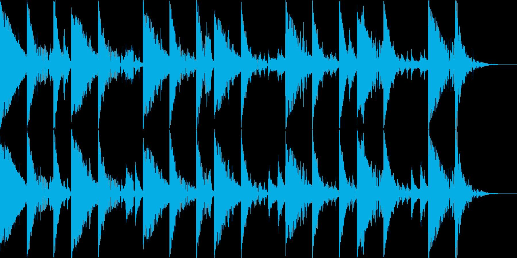 リラックスとしたサンバ風BGMの再生済みの波形