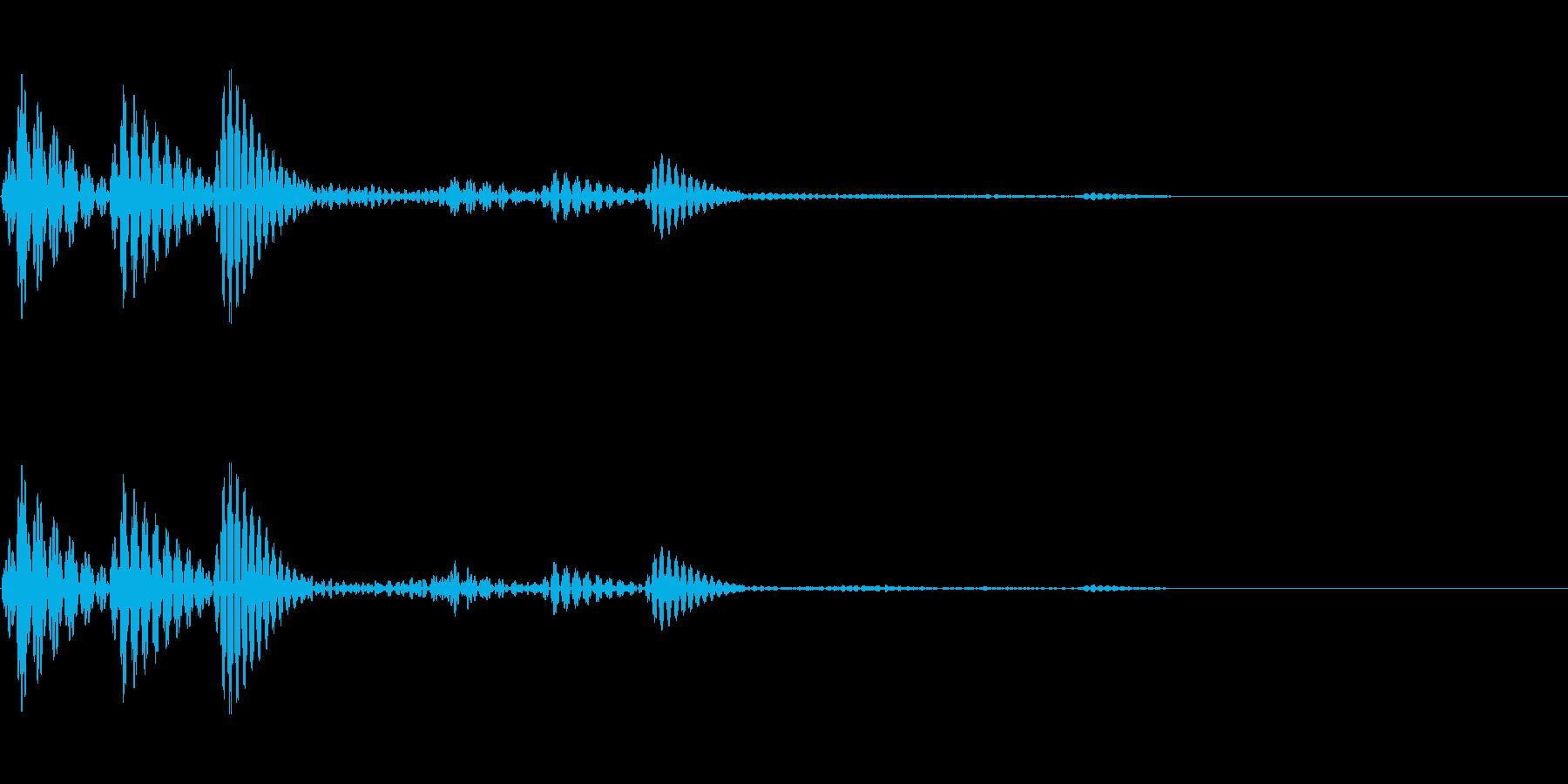 近未来的なイメージのボタン音です。の再生済みの波形