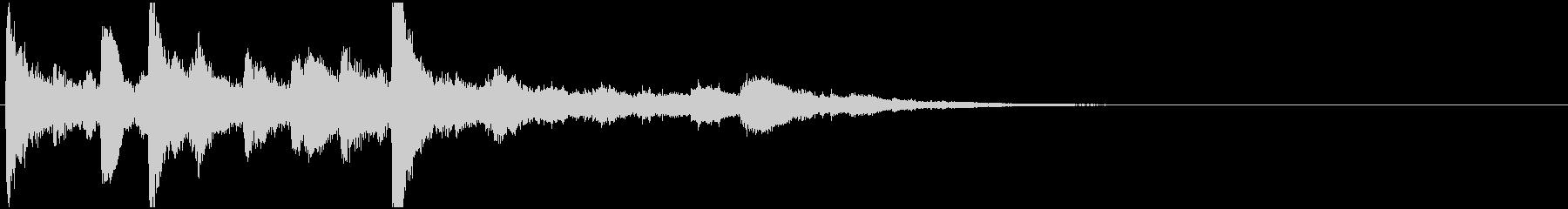 ジングル(結果表示・場面終了)の未再生の波形