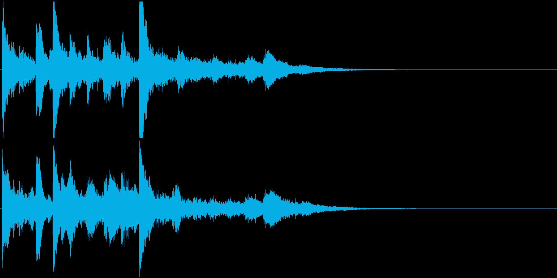 ジングル(結果表示・場面終了)の再生済みの波形