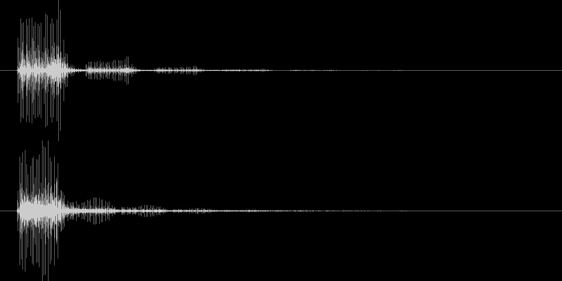 バッウ(魔法音)の未再生の波形
